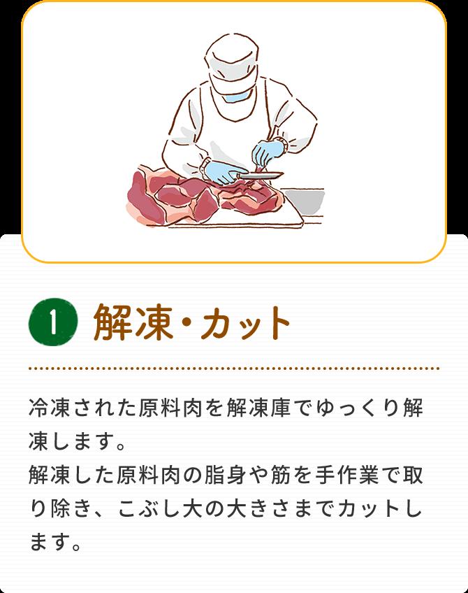 1 解凍・カット